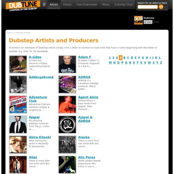List of Dubstep Artists / Dubstep Producers