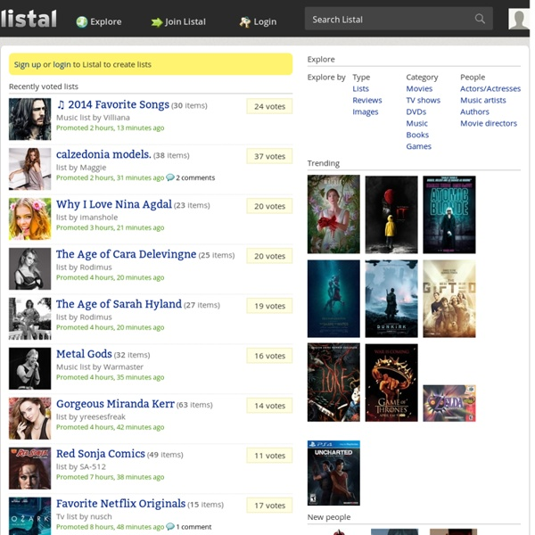 Listal - List the stuff you love! Movies, music, books