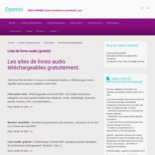 Livres audio gratuits