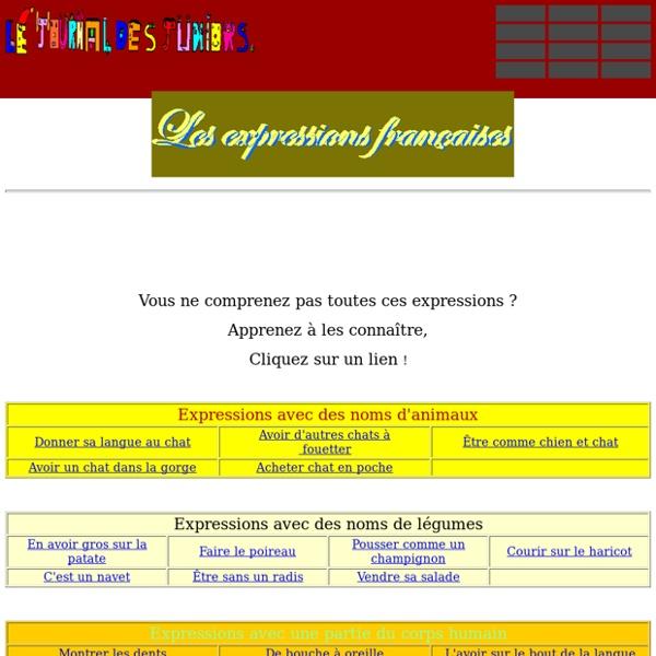 Liste des expressions française