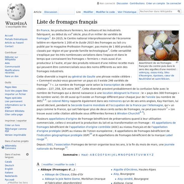 Liste de fromages français