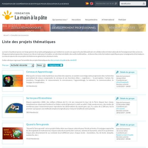 Liste des projets thématiques
