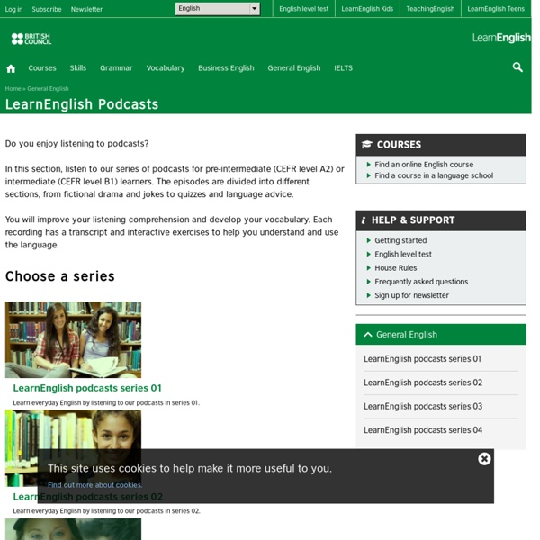 Home - podcasts - listening - LearnEnglish - British Council