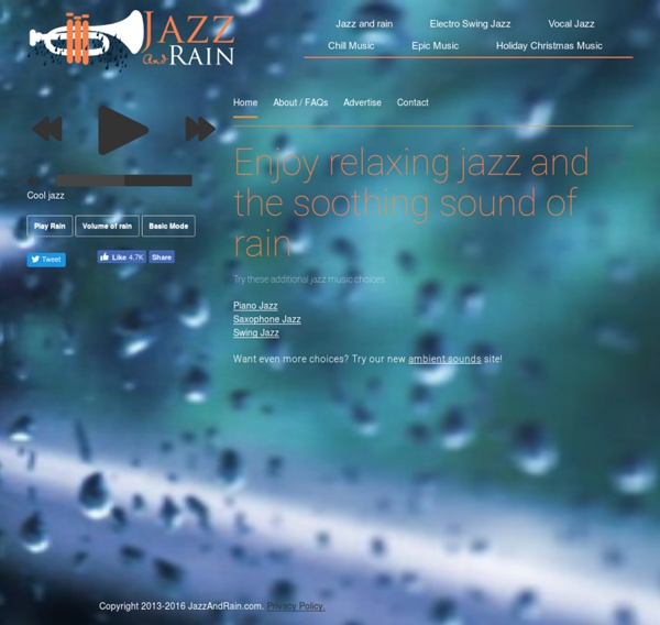 Listen to Smooth Jazz and Rain Sounds - JazzAndRain.com