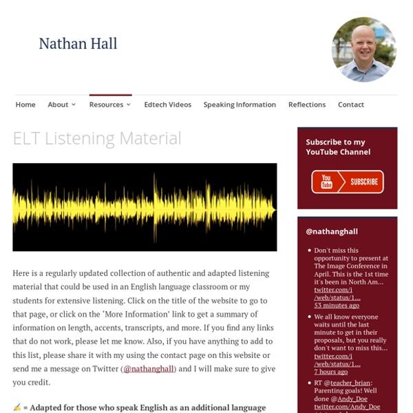 ELT Listening Material – Nathan Hall