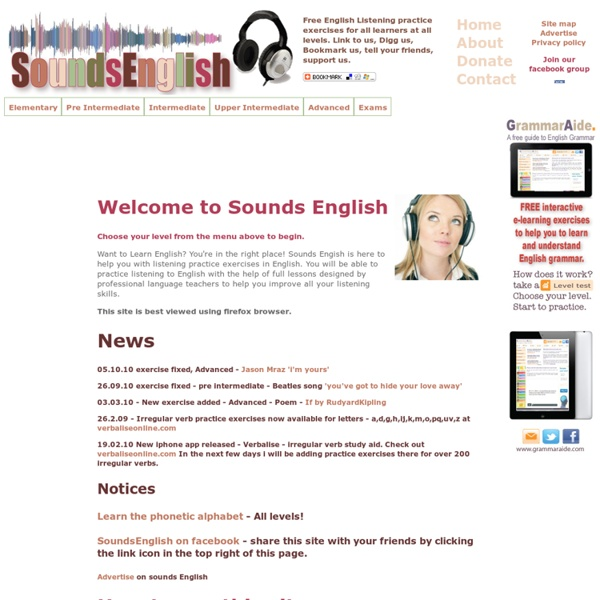English listening practice exercises - Sounds English
