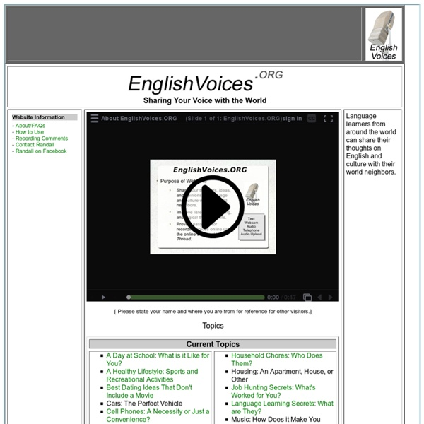 English Voices: ESL/EFL Listening and Speaking Practice