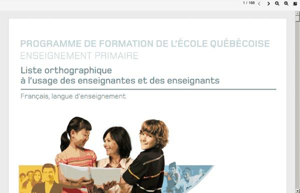 Www.mels.gouv.qc.ca/fileadmin/site_web/documents/publications/EPEPS/Formation_jeunes/Programmes/ListeOrthographique_Primaire.pdf