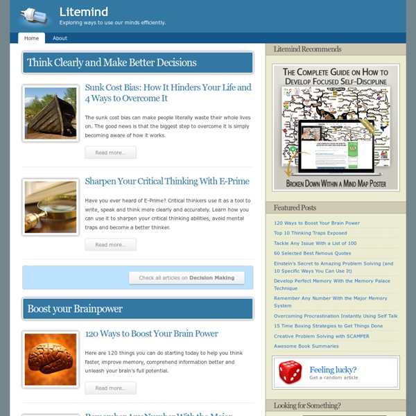 Litemind - Exploring ways to use our minds efficiently.