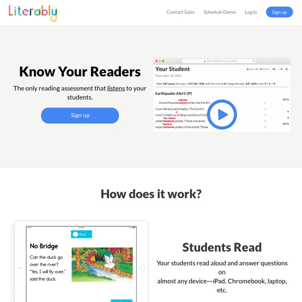 Literably: the easiest way to assess reading