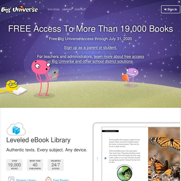 Integrated Literacy Solution for K-12 — Big Universe