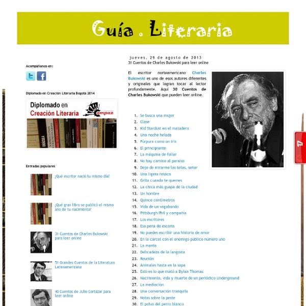 31 Cuentos de Charles Bukowski para leer online