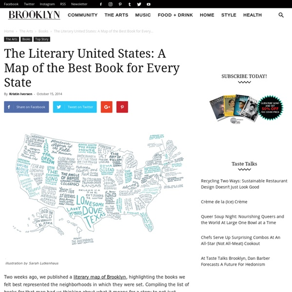 The Literary United States: A Map of the Best Book for Every State