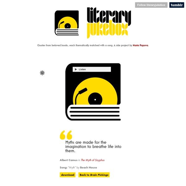 Literary jukebox