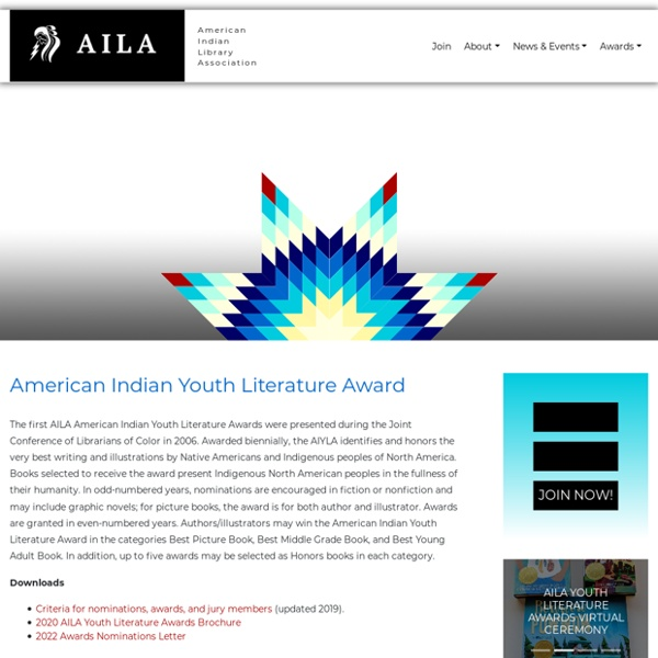 American Indian Youth Literature Award - American Indian Library Association