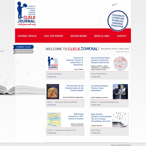 CLELE JOURNAL – children´s literature in english language education