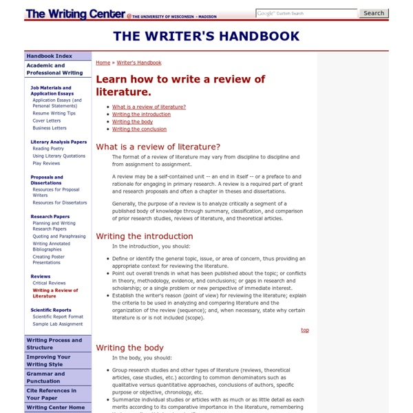 """APA Documentation"" UW-Madison Writing Center Writer's Handbook"