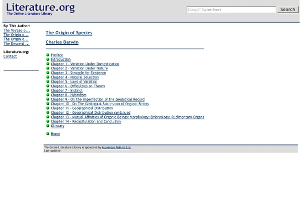 The Online Literature Library - StumbleUpon