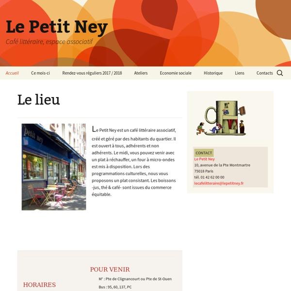 Le Petit Ney (café littéraire associatif), Paris 18e