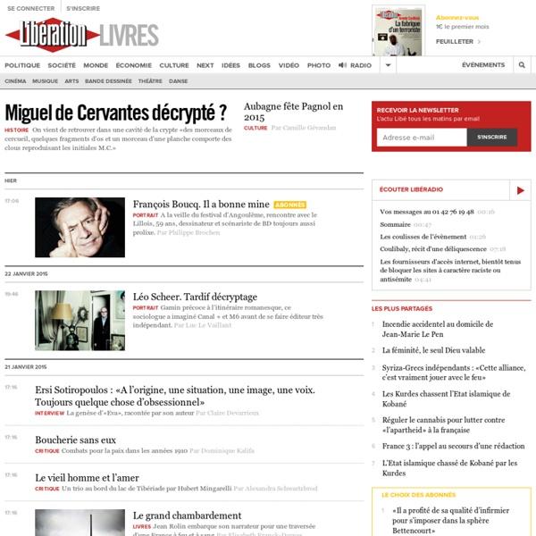 Toute l'actualité littéraire avec Libération