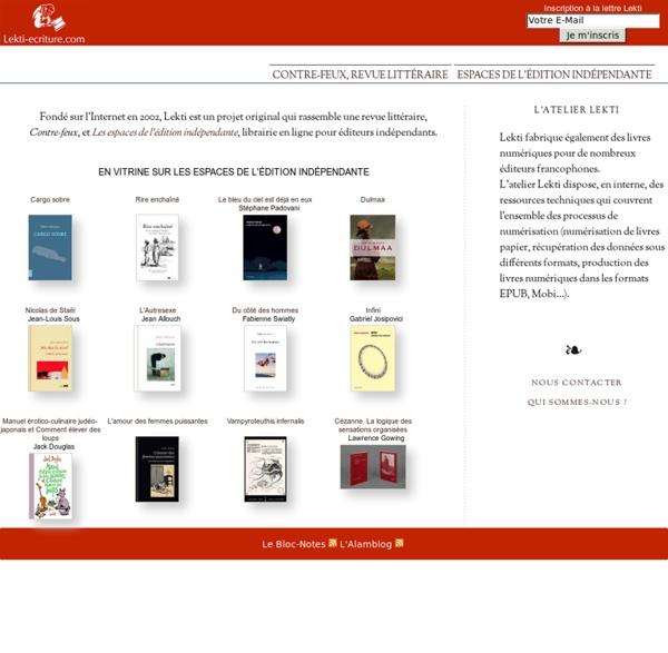 Édition, librairie en ligne et bibliothèque numérique : le projet Lekti