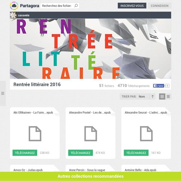 Rentrée littéraire 2016 - caravete - fichiers à télécharger