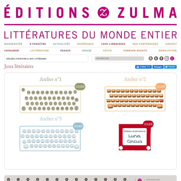 Jeux littéraires - Editions Zulma