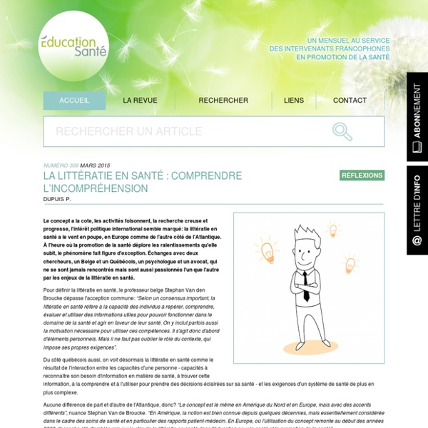La littératie en santé : comprendre l'incompréhension