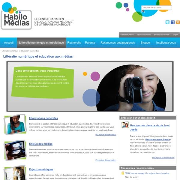 Littératie numérique et éducation aux médias