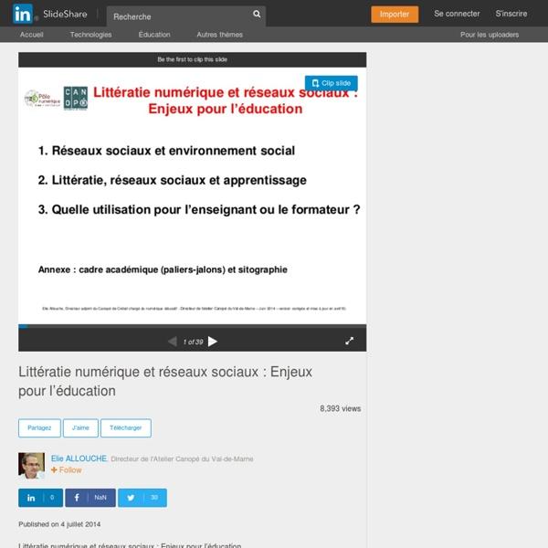 Littératie numérique et réseaux sociaux : Enjeux pour l'éducation