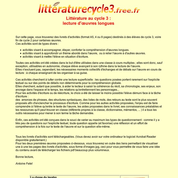 Littérature au cycle 3