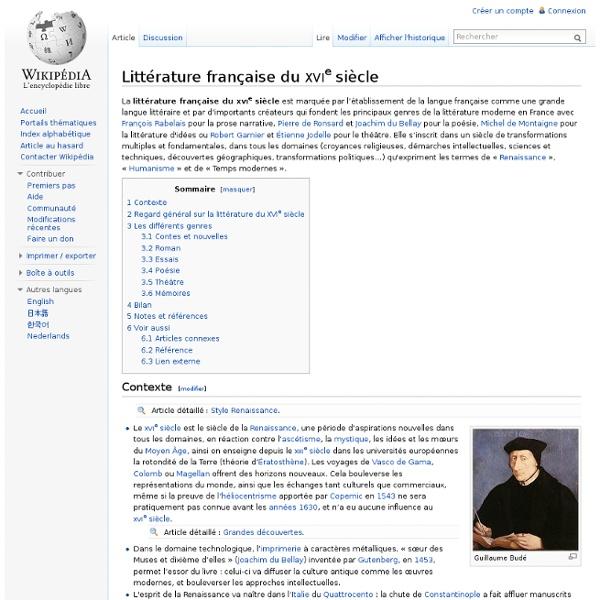 Littérature française du XVIe siècle