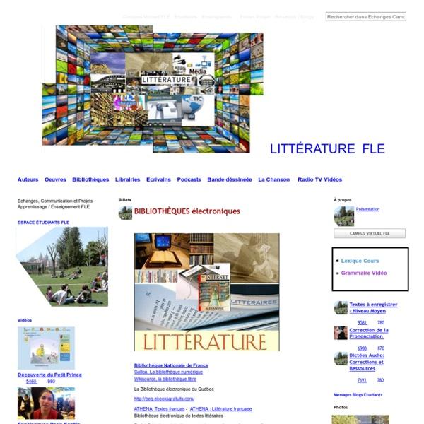 Litterature Française, Medias, Radio TV FLE