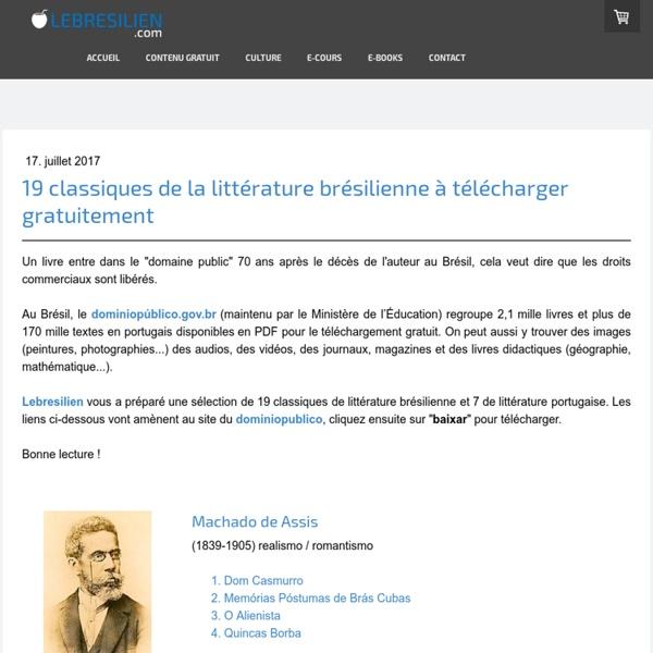 19 classiques de la littérature brésilienne à télécharger gratuitement - Lebresilien.com