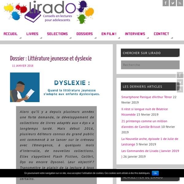 Dossier : Littérature jeunesse et dyslexie