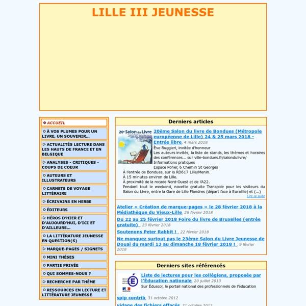 [Site littérature jeunesse de lille 3]