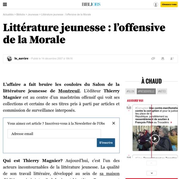 Littérature jeunesse : l'offensive de la Morale - 7 juillet 2009