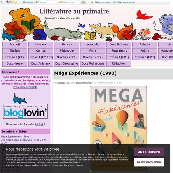 Littérature au primaire - Apprendre à vivre des mondes