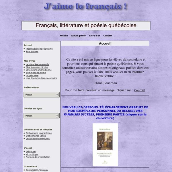 Français, littérature et poésie québécoise