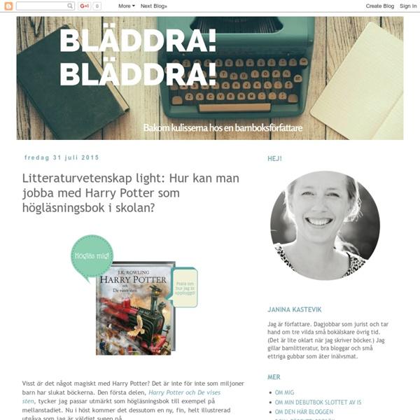 Litteraturvetenskap light: Hur kan man jobba med Harry Potter som högläsningsbok i skolan?