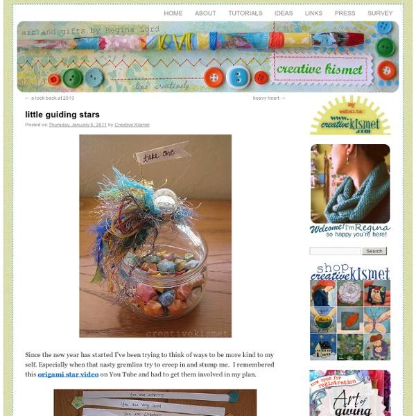 Creative Kismet » Blog Archive » little guiding stars