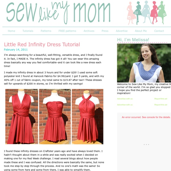 Little Red Infinity Dress Tutorial - Sew Like My Mom