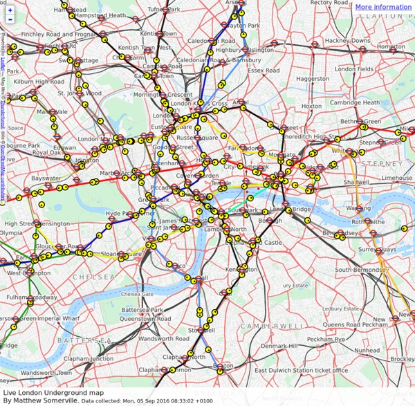 Live map of London Underground trains