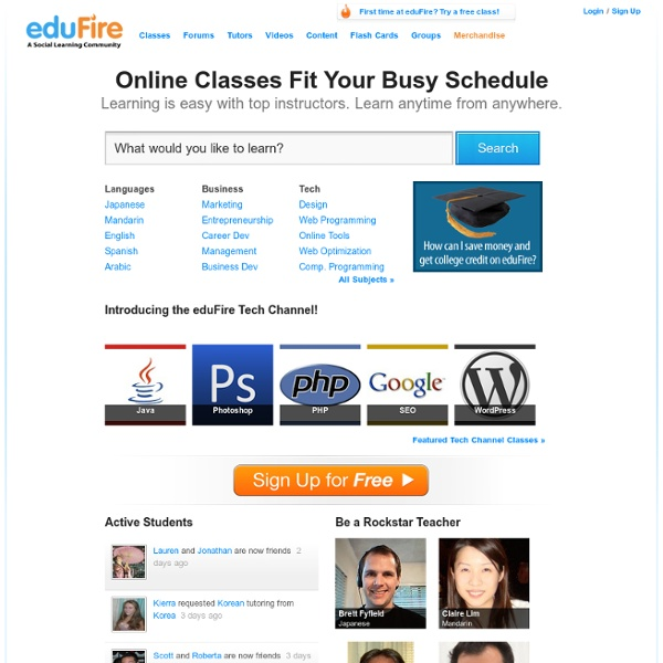 Live Video Learning at eduFire