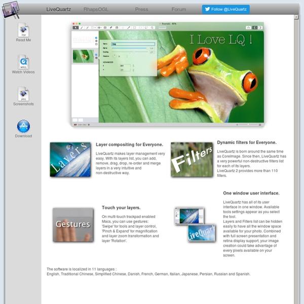 LiveQuartz 1.9 - Free Image Editing on Mac