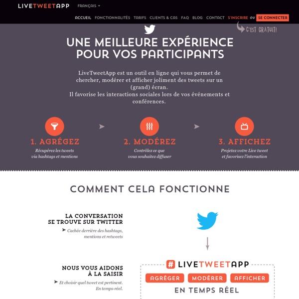 Outil de live tweet wall pour événements et conférences