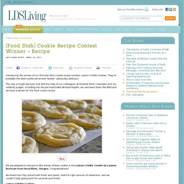 {Food Dish} Cookie Recipe Contest Winner + Recipe