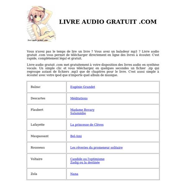 Livre audio gratuit mp3 à télécharger