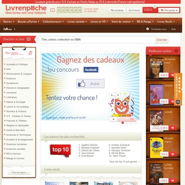 Livrenpoche.com : Achat-vente de livres & BD d'occasion