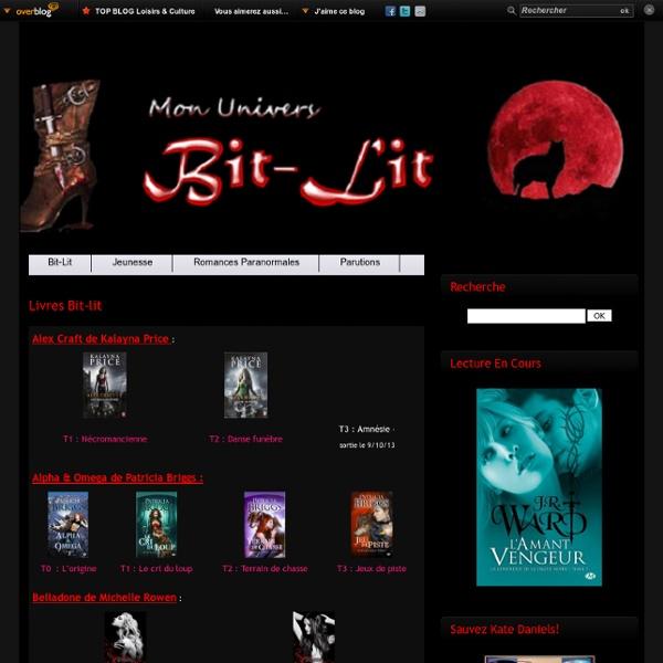 Livres bit-lit - Mon Univers Bit-Lit